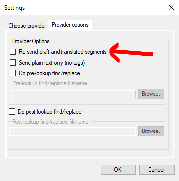 Have multiple MT providers not re-send requests for