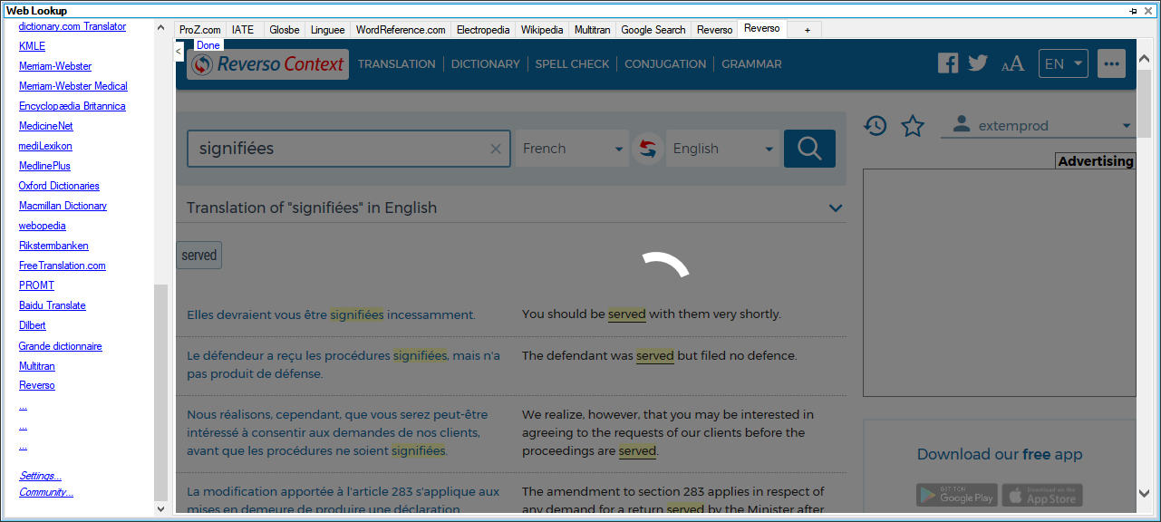 Web Lookup proz com search does not return any answers suddenly