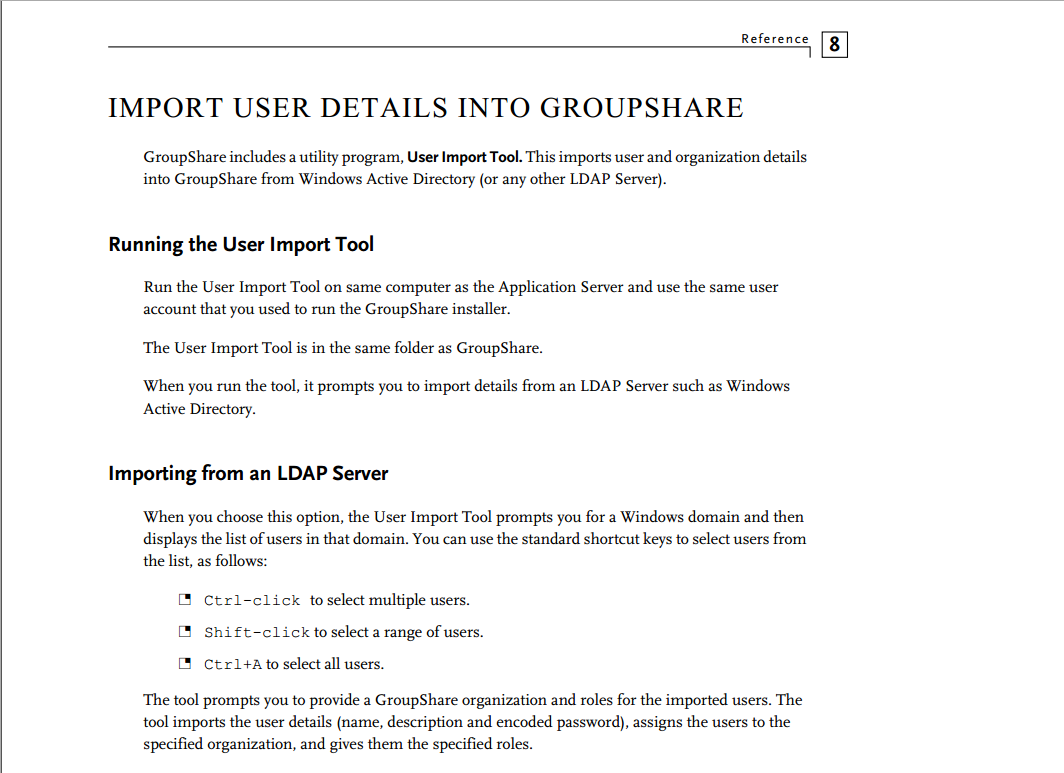 User data import into GroupShare server - GroupShare Q&A