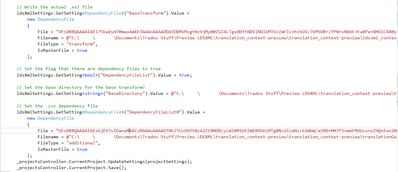 What is the encoding of the 'Sdl FileTypeSupport Native Xml