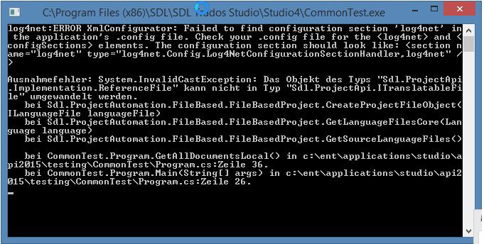 FileBasedProject GetSourceLanguageFiles crash - API Q&A