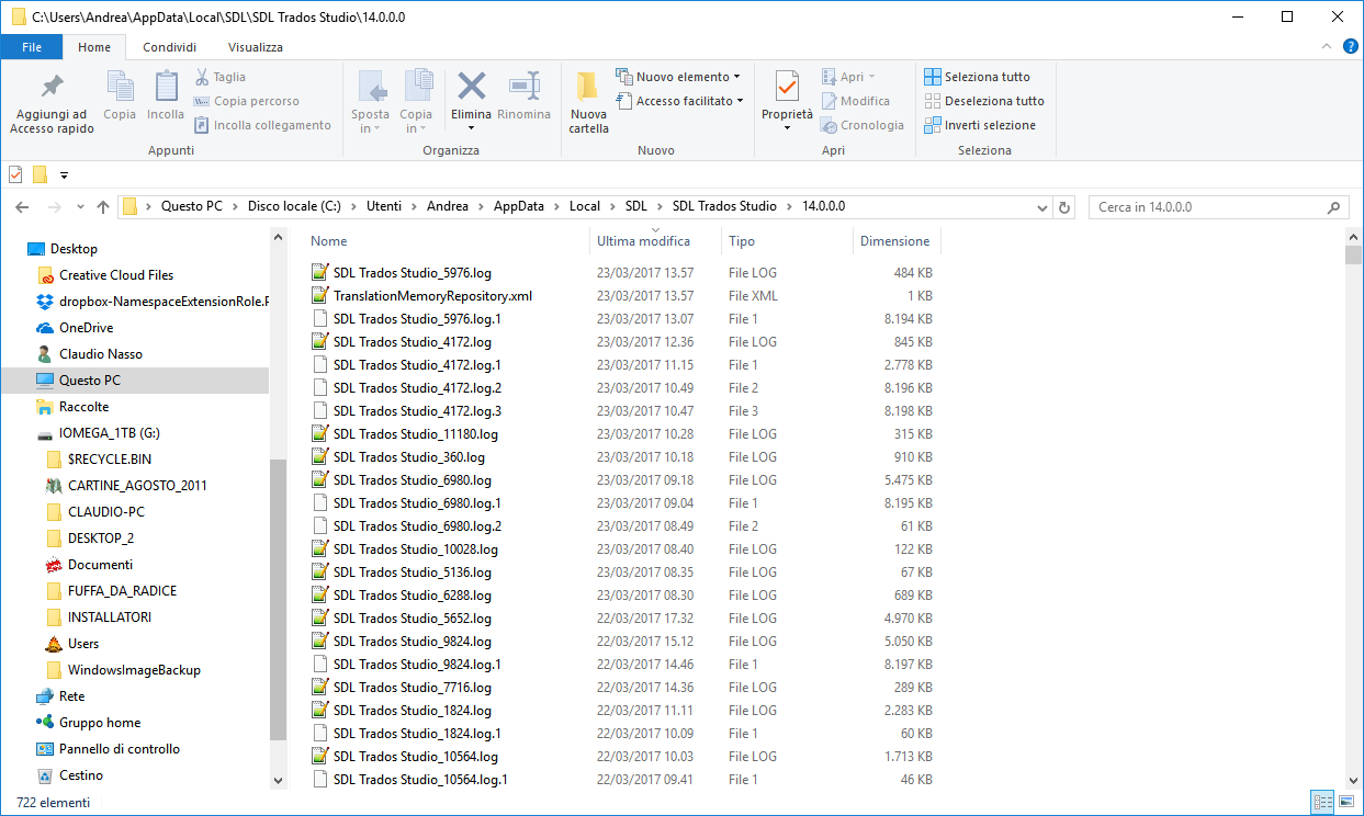 Purging temp/log SDL Studio folders - SDL Trados Studio