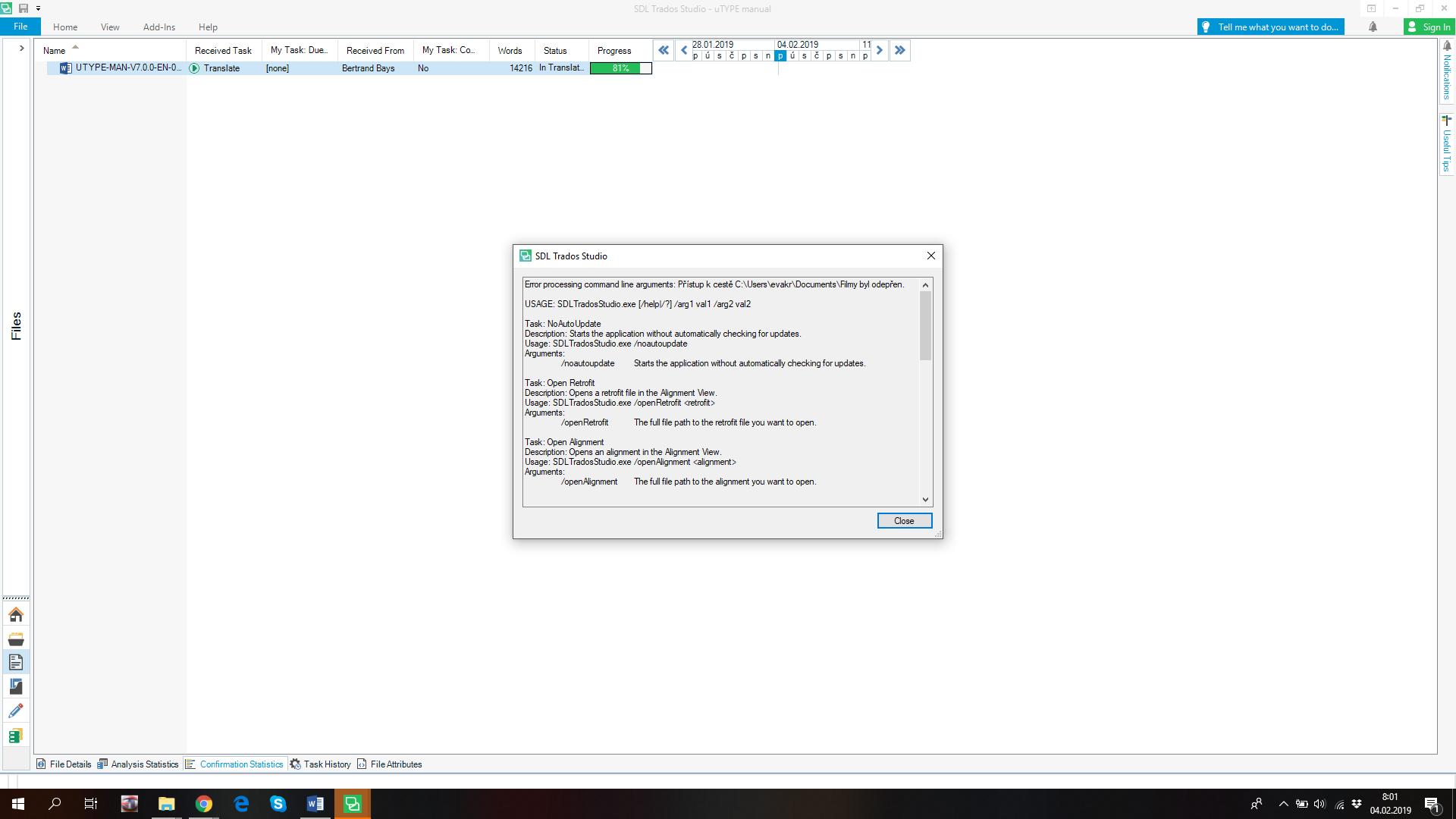 Access denied to folder - renaming didn´t help - SDL Trados Studio