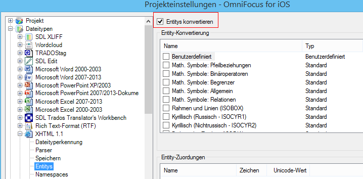Is it possible to disable XML/HTML conversion of entities
