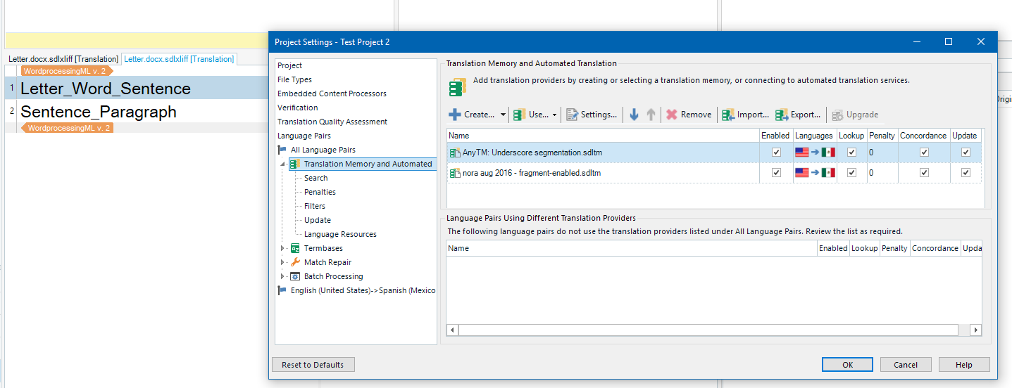 Create a project from plain SDLXLIFF files? - SDL Trados