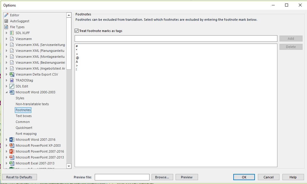 Missing source text - SDL Trados Studio - Translation