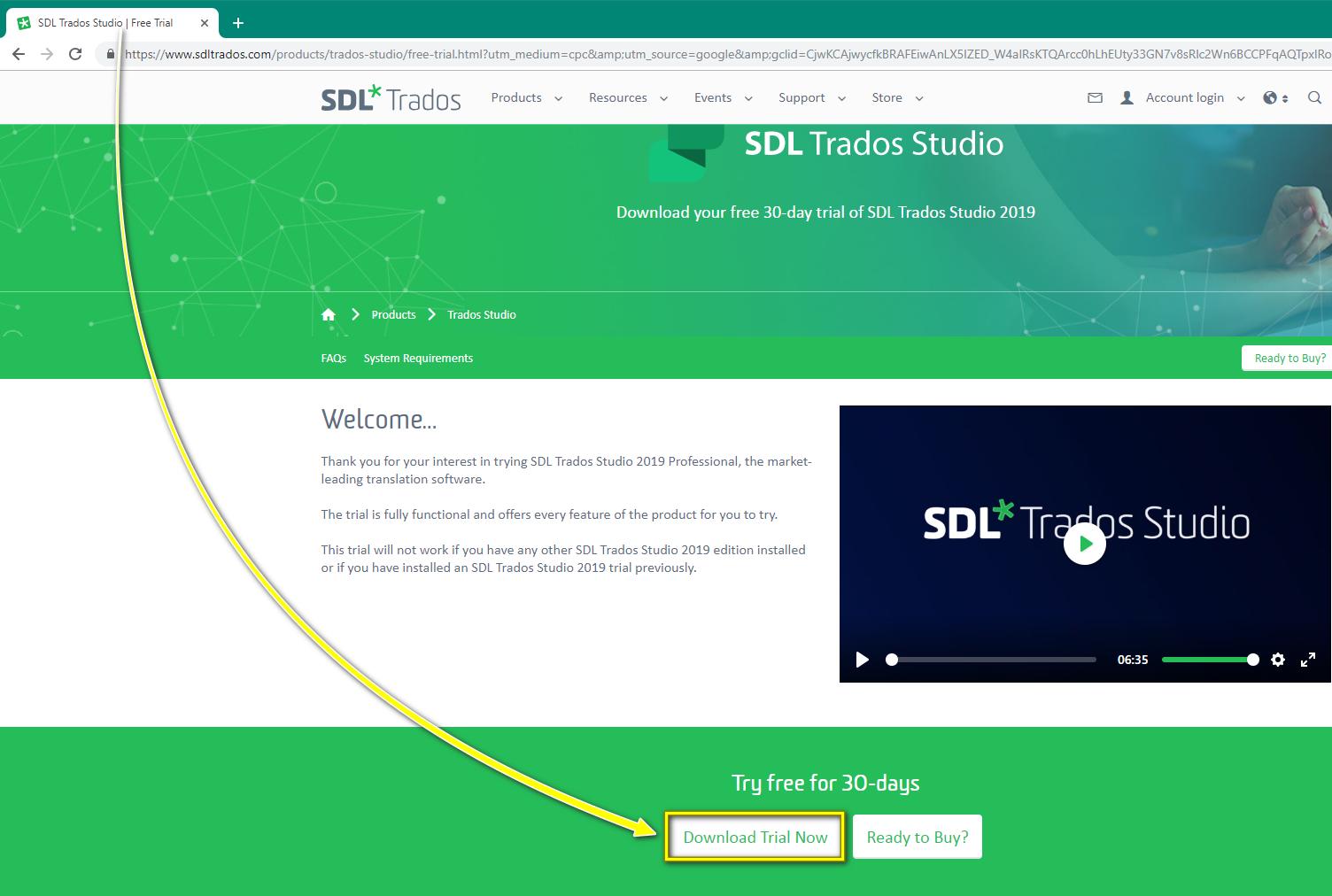 How to    Install SDL Trados Studio 2019 (Trial Installer