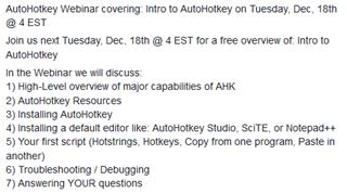 AutoHotkey video - AutoHotKey - Translation Productivity - SDL Community