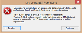 Microsoft net exception when trying to open and reinstall