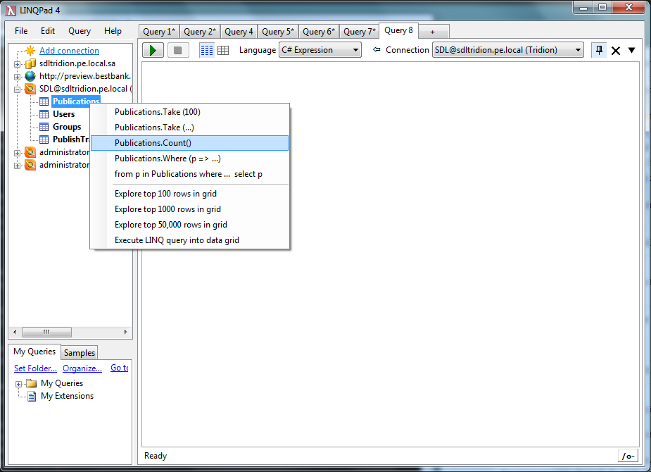 Using LINQPad with SDL Tridion - Tridion articles and