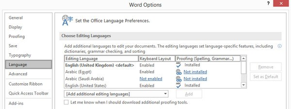 Check Spelling (Language not supported) - SDL Trados Studio